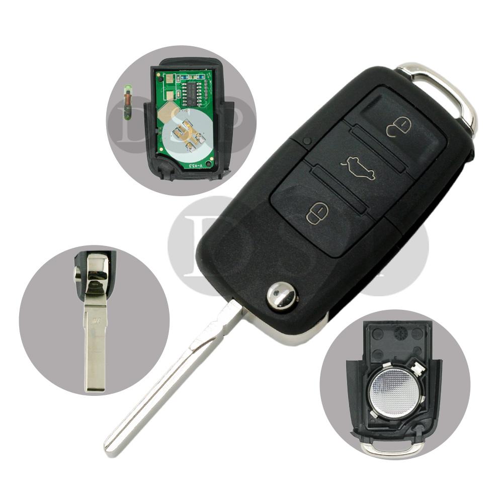 smart remote key shell fit for toyota camry crown highlander venza case 3 but. Black Bedroom Furniture Sets. Home Design Ideas