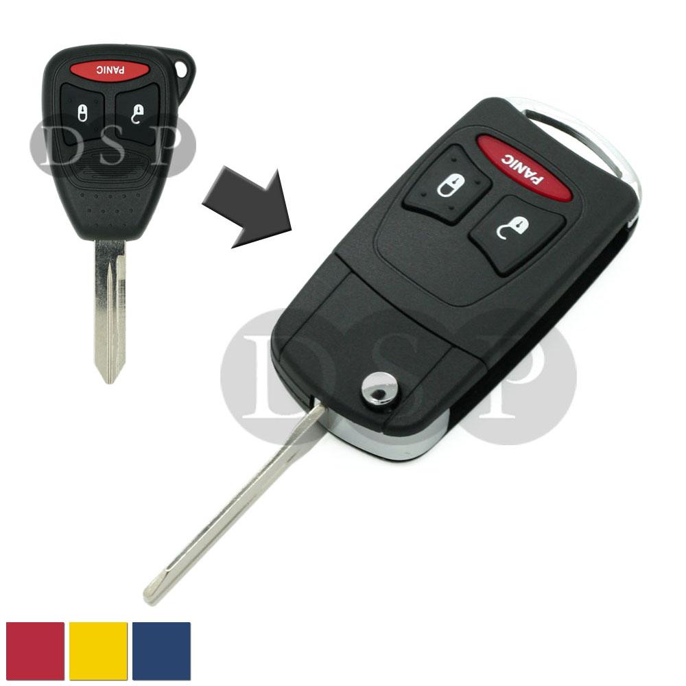 Flip Remote Key Case Shell Fit For DODGE JEEP Durango